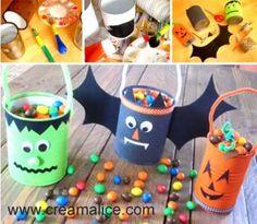 DIY seau à bonbons Halloween fabriqué en boite de conserve