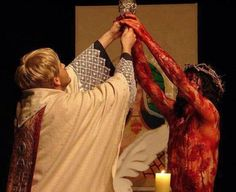 This image...though quite shocking... illustrates what the Holy Eucharist is…