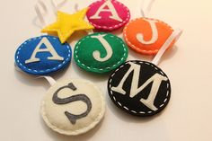 Felt Initial Ornaments by Witty Girl, via Flickr