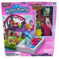 Shopkins Happy Places Pool Playset, Multicolor