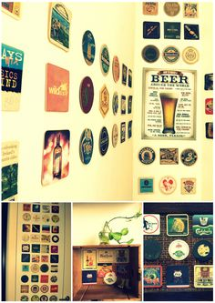 beer coasters display