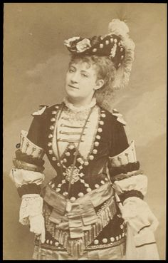 Photograph of Lydia Thompson.  Guy Little Theatrical Photograph by London Stereoscopic and Photographic Company  V S.141:776-2007