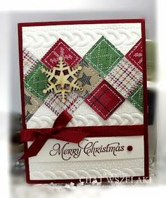 Me, My Stamps and I: Cable Knit Embossing Folder