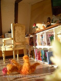 Detail of my Miniature Dollhouse bedroom (Handmade by Eva Perendreu)