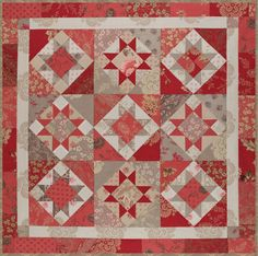 @French Pascucci Czachor General fabrics in this gorgeous quilt from #whatsyourstitchystuff
