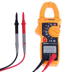 PEAKMETER PM2018A Digital 6000 Counts Clamp Meter Multimeter with AC/DC Voltage Current Resistance Continuity Test