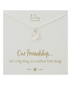 Look at this Sterling Silver Jigsaw Pendant Necklace & Message Card on #zulily today!