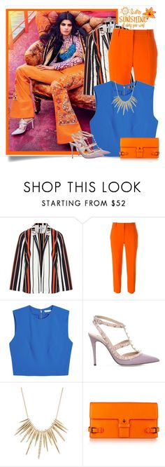 """""""Oh so colourful!"""" by southindianmakeup1990 ❤ liked on Polyvore featuring Topshop, STELLA McCARTNEY, Alice + Olivia, Valentino, Alexis Bittar, WALL, Tomas Maier, fashionset and polyvoreeditorial"""