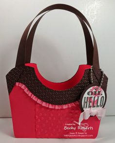 Paper Purse Display Part 2 - tutorial available