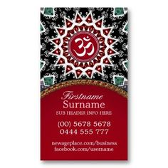 White Om Reiki Yoga New Age Business Cards from Onlinecards #customizable #templates #om
