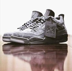"db57b995e7e4 16 Best ATHENTIC KAWS X Air Jordan 4 ""Cool Grey"" images"