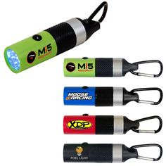 Factory price Carabiner-LED-flashlight. For more, go to website: www.millionpromos.com