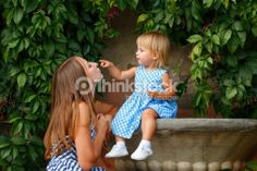 Stock Photo : Family, mother and daughter