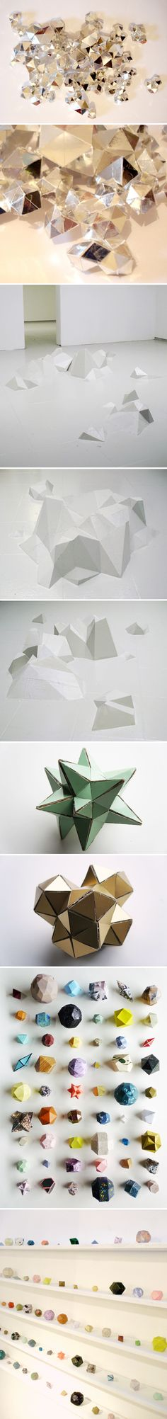 Origami to the max Origami, Sculpture Art, Sculptures, Instalation Art, Art And Architecture, Form, Art Inspo, Amazing Art, Crystals