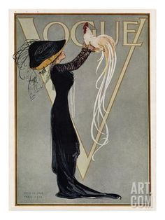 Vogue Cover - July 1910 Regular Giclee Print at Art.co.uk