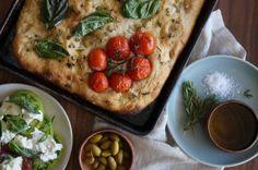 Herb Garden Focaccia | HonestlyYUM