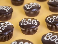 """""""Boo"""" says it all! See more of the best halloween cupcakes on domino.com"""