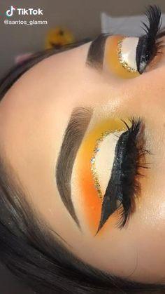 Makeup Eye Looks, Eye Makeup Art, Eyeshadow Makeup, Hair Makeup, Makeup Eyes, Eyeshadows, Makeup Brushes, Yellow Eye Makeup, Colorful Eye Makeup