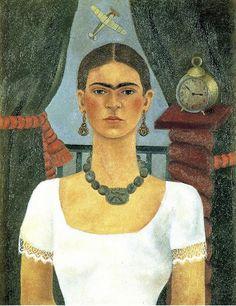 Frida Kahlo - Self-Portrait - Time flies (1929)
