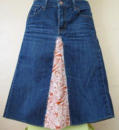 different upcycled skirt