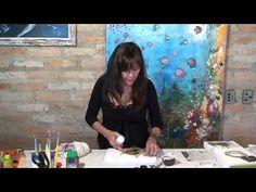 ADRIANA LEONEL -  TELA ARTESANAL   PARTE 01 -  DECOPAGEM EM TELA