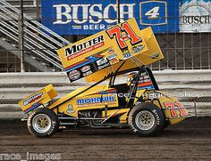 DAVE BLANEY #71M WoO SPRINT CAR (2016 KNOXVILLE NATIONALS)  8x10 GLOSSY PHOTO #3