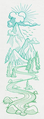 Mountain Valley Sleeve | Urban Threads: Unique and Awesome Embroidery Designs