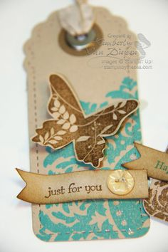 Cute with the butterfly and lace stamp
