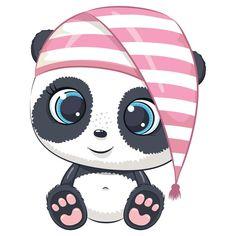Cartoon Baby Animals, Cute Panda Cartoon, Baby Animal Drawings, Cute Drawings, Cute Animals, Moon Cartoon, Wild Animals, Baby Raccoon, Cute Raccoon
