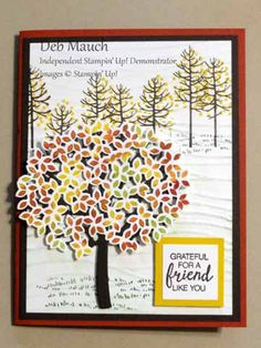 Thoughtful Branches Fall Scene by dcmauch - Cards and Paper Crafts at Splitcoaststampers