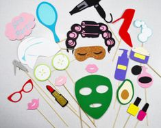 Spa party props Spa photobooth by LeStudioRose on Etsy