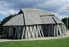Viking Longhouse at Fyrkat: A reconstructed Viking longhouse at Fyrkat in Denmark.  (Photo Credit: Ludovic Maisant/CORBIS)