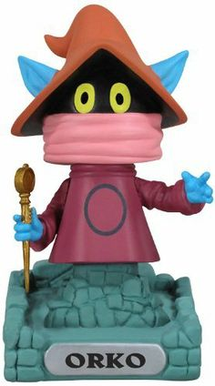 Funko Masters of The Universe: Orko Wacky Wobbler by Funko. $13.01. YOU have the power. Collect them all. Perfect for your desk or shelf. From the Manufacturer                Y the Power of Grayskull, it's the Masters of the Universe Bobble Heads. This Masters of the Universe Orko Wacky Wobbler Bobble Head stands 7-inches tall and features the Trollan magician and resident amateur comic Orko with wand in hand hovering over Eternian rubble. In other words, this is t...