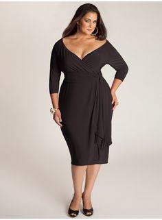 Gorgeous Elegant Black Dress Plus Size Ideas : 70 Outfit Style Plus Size Cocktail Dresses, Black Cocktail Dress, Plus Size Dresses, Plus Size Outfits, Cocktail Attire, Cocktail Parties, Big Girl Fashion, Curvy Fashion, Plus Size Fashion