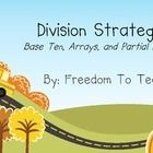 Teach your students the 3 methods of division using a 1 digit divisor and 3 digit dividends. Base Ten Blocks, Open Arrays, and Partial Product! Teaching Division, Teaching Math, Long Division Strategies, Base Ten Blocks, Teachers Corner, Thing 1, 5th Grade Math, Math For Kids, Mathematics