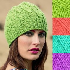 What are your thoughts on knitting in neon? These colors could really stand out!