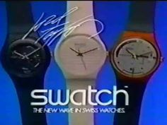 1984 ads Swatch  It takes a moment to realize this ad is for a watch...but not just a watch...a Swatch! They were quite the hit in the 80's.  © 1984 Swatch.