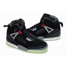 High-Quality Air Jordan Spizike 3.5 Luminous Men Black Grey Shoes For $72.60 Go To:  http://www.basketball-mall.com