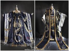 Japanese period stage drama costumes - Pretty sure this is Chinese, not Japan. Traditional Fashion, Traditional Dresses, Oriental Fashion, Asian Fashion, Kimono Fashion, Lolita Fashion, Fantasy Gowns, Chinese Clothing, Cosplay Outfits