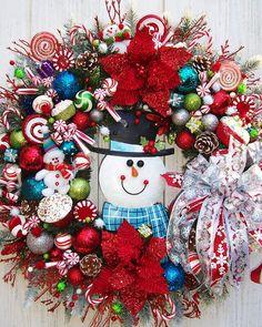 Winter Christmas Holiday Wreath