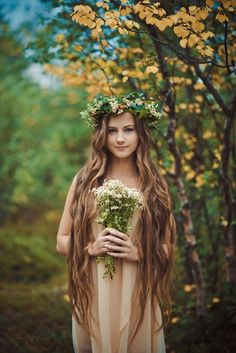 Basically this is what we're going for, right? Woodland maiden, but with more bling?