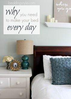 WHY you need to make your bed every day