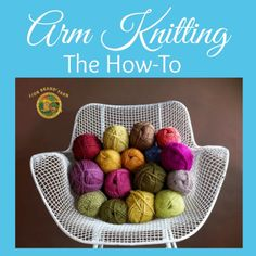 How to Arm Knit a Scarf - Life is {Sew} Daily