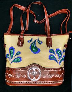 Paisley Print Tote by UniqueBeautyBags on Etsy