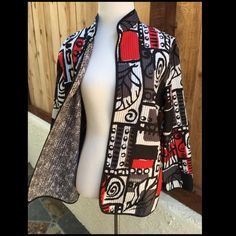 Light Weight Red & Black Jacket Red, white & black light weight jacket. Perfect for cool spring day or layering in the winter. Like new. 100% Polyester. Alfred Dunner Jackets & Coats