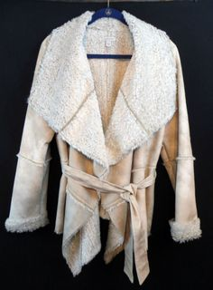BOSTON PROPER Western Cowgirl Chateau Wrap Jacket Coat Shearling Gypsy NWOT L  our prices are WAY BELOW RETAIL! all JEWELRY SHIPS FREE! www.baharanchwesternwear.com baha ranch western wear ebay seller id soloedition