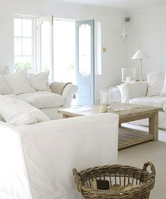 love the doors, the table and everything white!