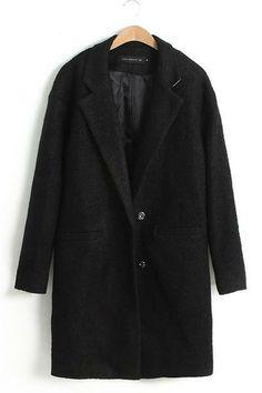 Loose Long Sections Woolen Overcoat