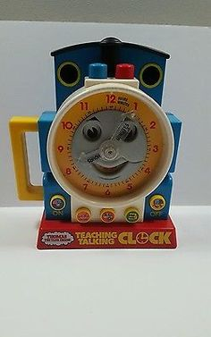 1992 THOMAS TANK ENGINE TEACHING CLOCK TELL TIME EDUCATIONAL -  NOT TESTED