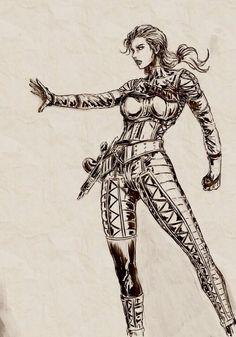 Metal Gear Solid -The Boss Artwork